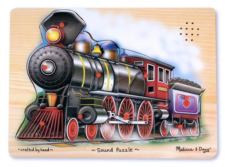 Melissa & Doug Train Sound Puzzle Wooden Puzzle With