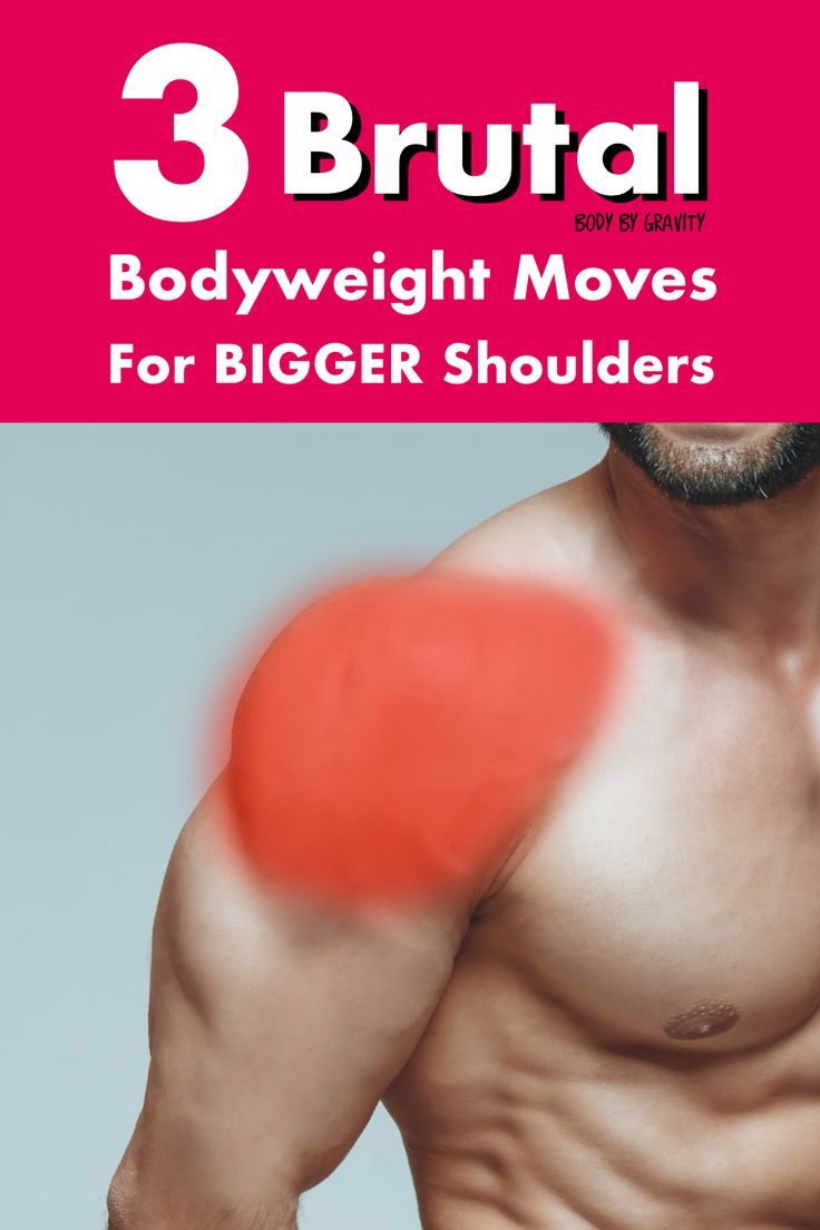 Use these 3 brutal shoulder exercises to grow your shoulders. These bodyweight exercises will make y...