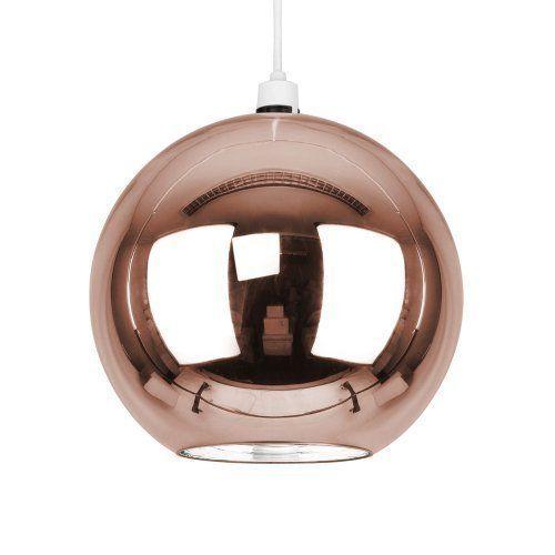 Stunning modern copper rose gold effect brown glass ball ceiling stunning modern copper rose gold effect brown glass ball ceiling pendant light shade aloadofball Gallery