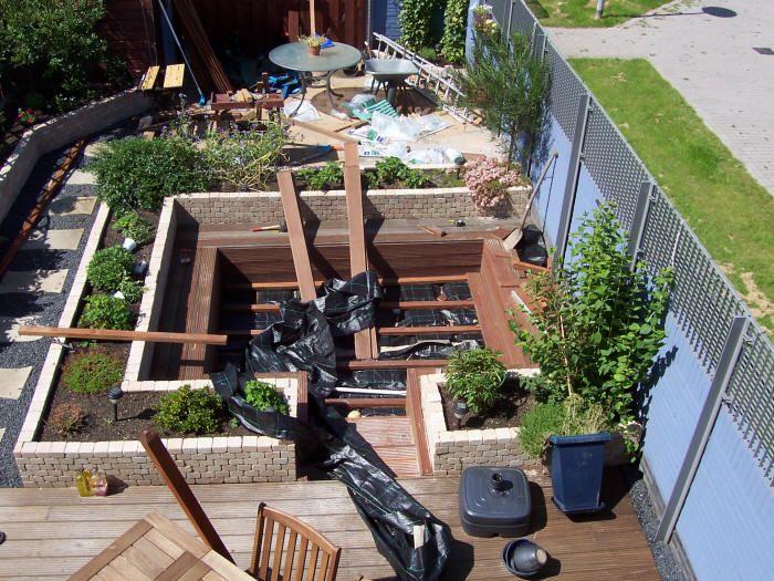 Verbouwing zitkuil tuin tuin idee n tuin en tuinontwerp for Spiegelvijver maken