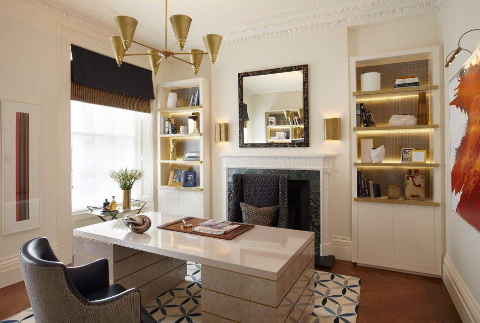 Tour a Sophisticated London Townhouse with Bold
