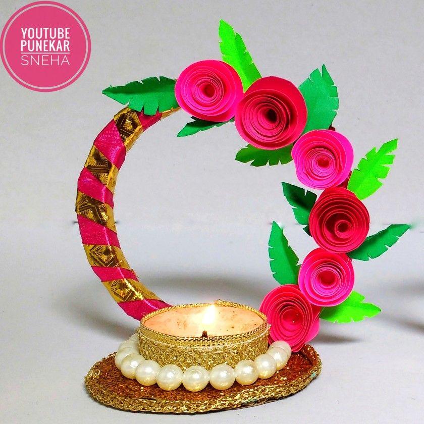 Diya Decoration Ideas At Home Diwali Diya Making From Newspaper