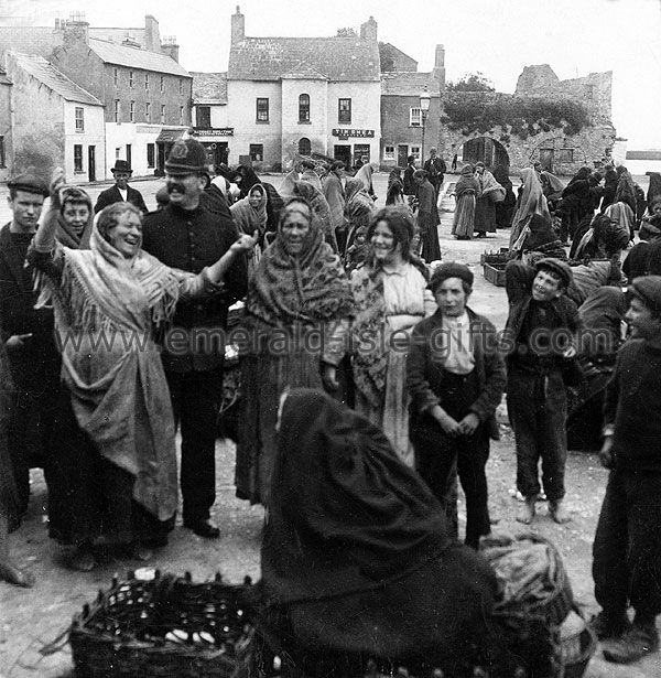 Irish Life Images - A lighthearted moment on market day in 1903