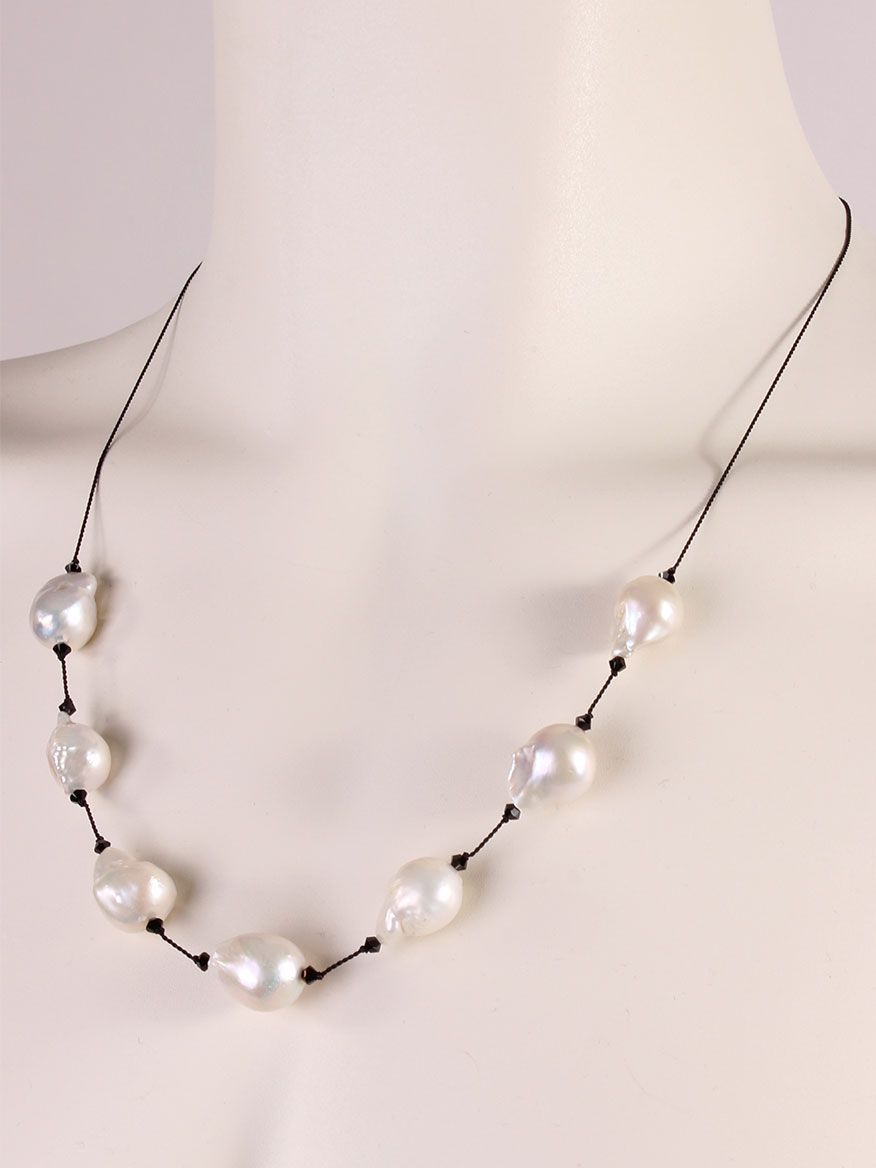 Margo Morrison Peacock & Baroque Pearl Y-Drop Necklace 6J7J8N