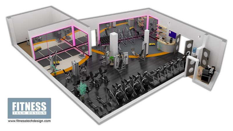 Grosvenor Waterside Gym Design Fitness Tech Gym