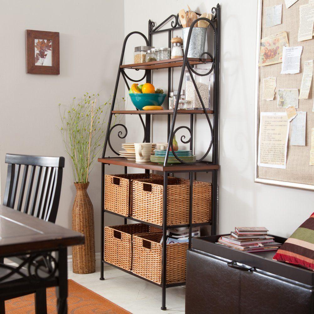 AmazonSmile Belham Living Sutter Bakers Rack with Baskets