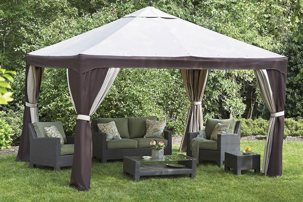 New Lowe S 10x12 Steel Gazebo Replacement Canopy Gazebo Replacement Canopy Steel Gazebo Gazebo