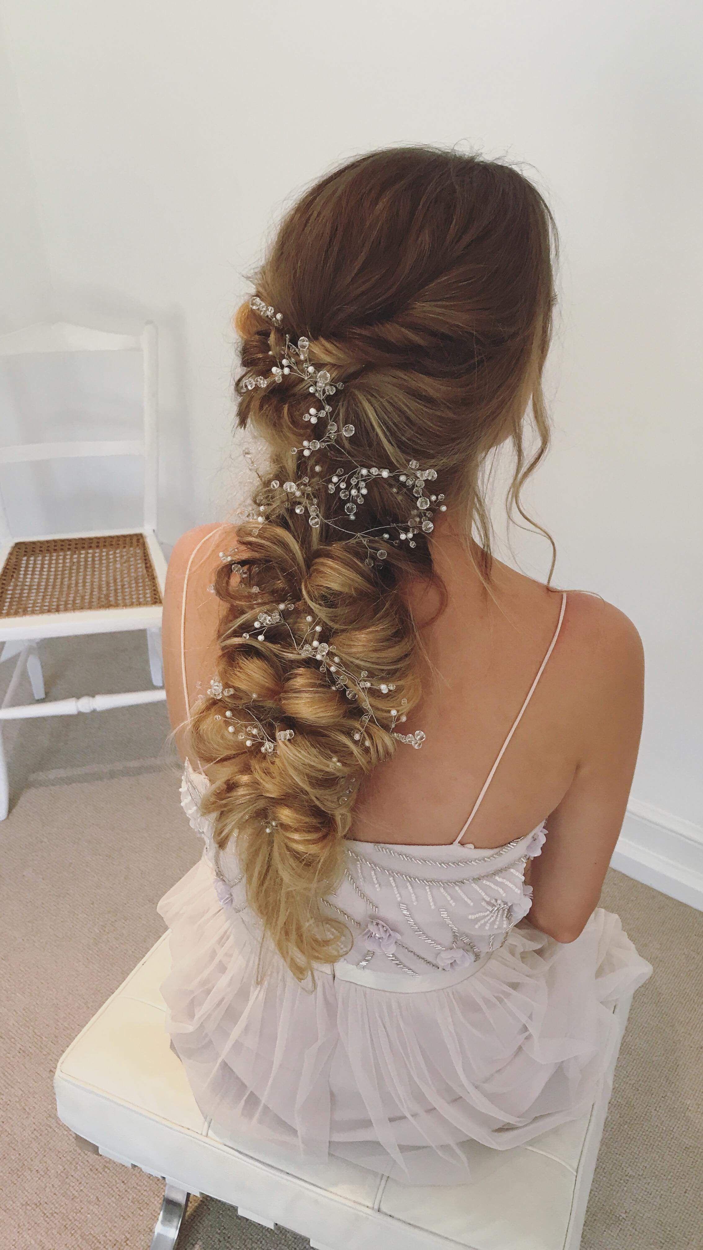 boho hair, bohemian hairstyles, bridal hair, wedding