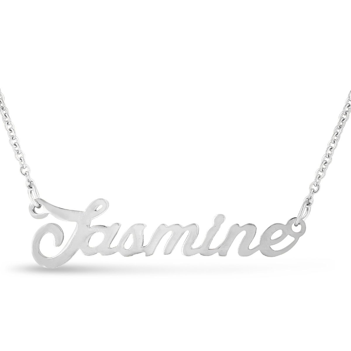 f95ceda9aad64 Overlay 'Jasmine' Nameplate Necklace | Products in 2019 | Jewelry ...
