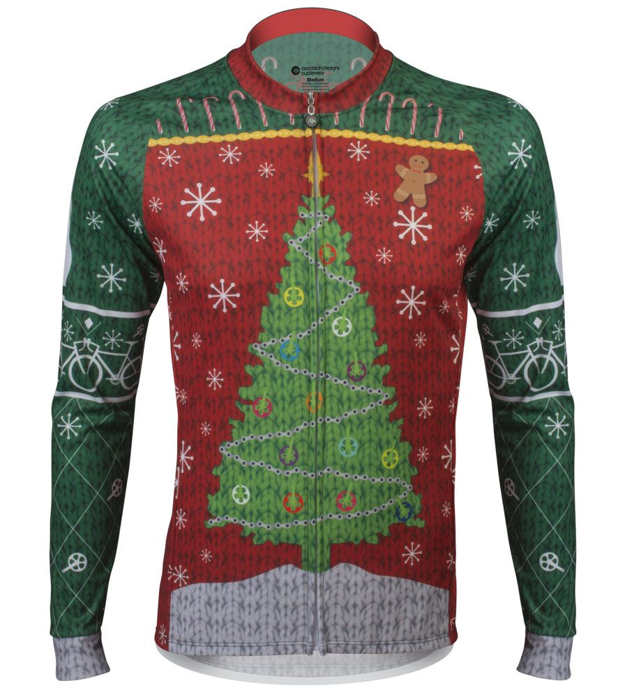 Ugly Christmas Sweater Cycling Jersey - Holiday Celebration for ...