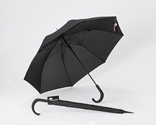 Standard Unbreakable Umbrella U 115 Walking Stick W Crooked Handle