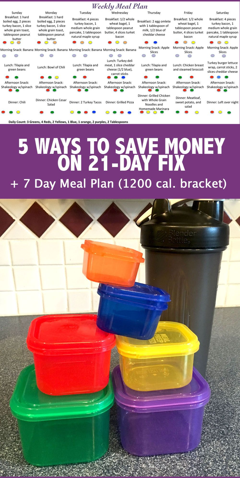 Here are my 5 no fail ways to save money on 21 Day Fix Plus check