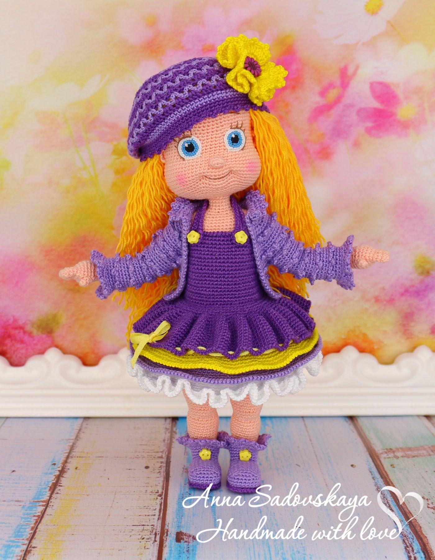 Виолетта. Мастер-класс по вязанию крючком | lovely doll | Pinterest ...