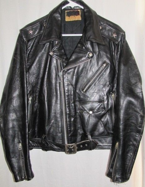 1282332d974e9 1950s SCHOTT PERFECTO 613 One Star HORSEHIDE MOTORCYCLE JACKET 42 ...