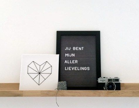 interieurblog | een letterbord voor in huis - interieurblog