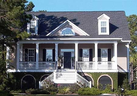 Plan 9140GU: Low Country House Plan with Elevator | Low country ...