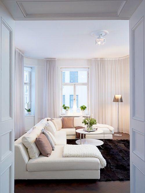 gardiner för vardagsrummet