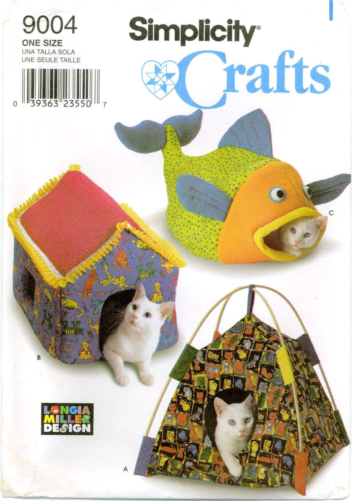 Simplicity Crafts 9004 CAT BEDS Fish House Tent Sewing