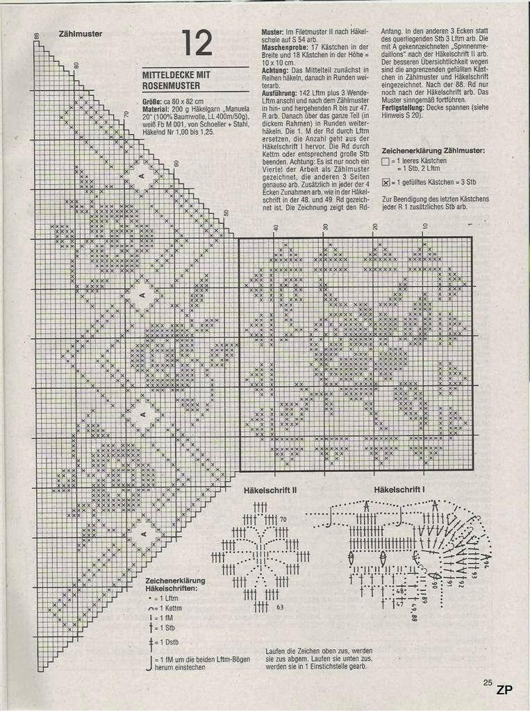 Crochet: tablecloth | Crochê Filé - Centros de mesa, centrinhos ...