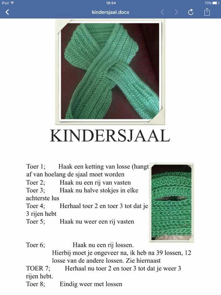 Kindersjaal | haken | Pinterest