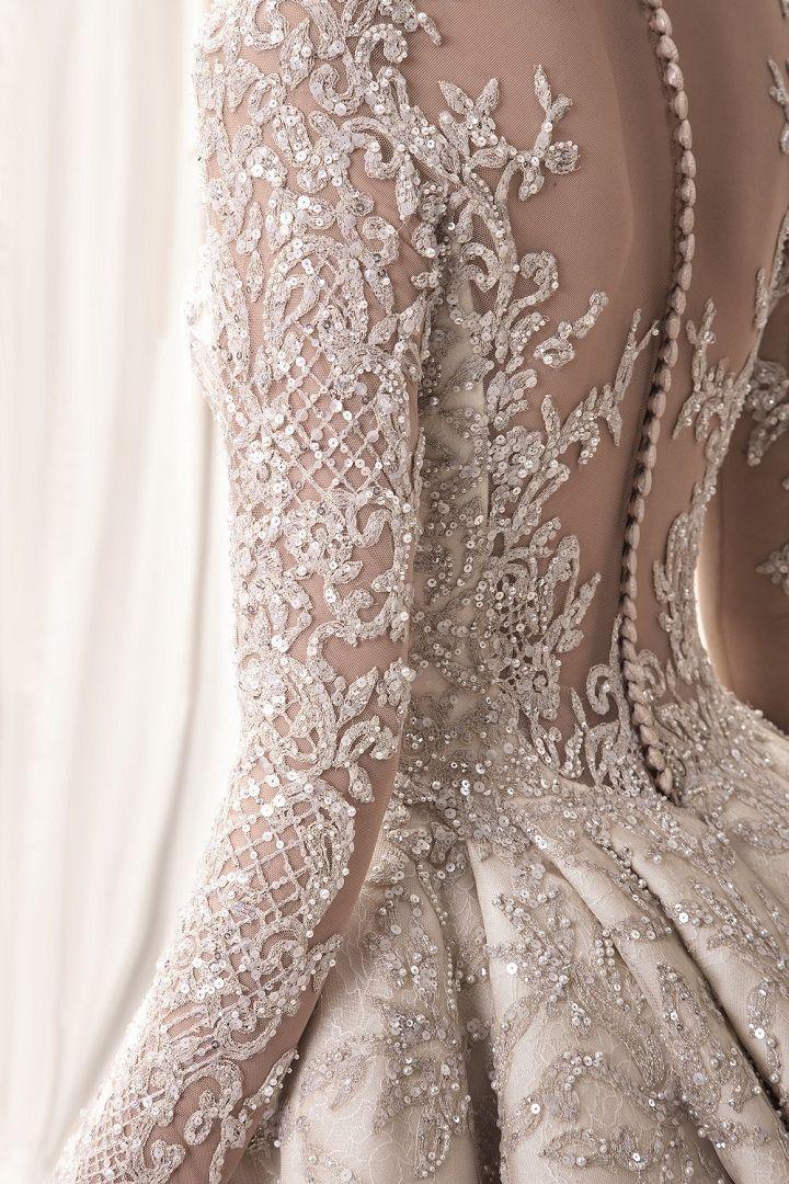 Photo of detail ! Krikor Jabotian 2018 bridal collection: sophisticated wedding dresses w…