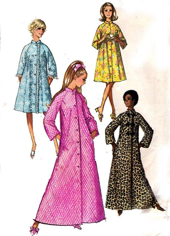 43f891b698 Womens Robe Pattern 1970s Vintage Sewing by allthepreciousthings ...