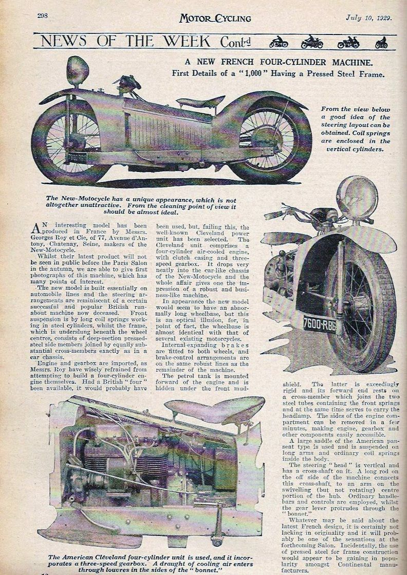 majestic article in motorcycling magazine, july 1929 | Motorcycle ...