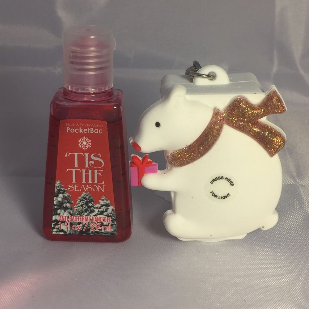 Bath Body Works Tis The Season Pocketbac Handgel Polar Bear