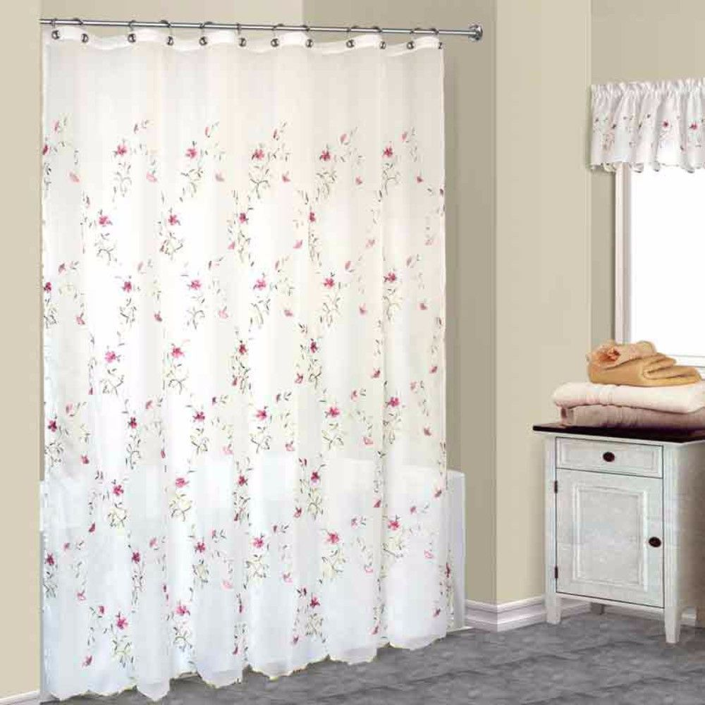 Eyelet Fabric Shower Curtain Fabric Shower Curtains Elegant