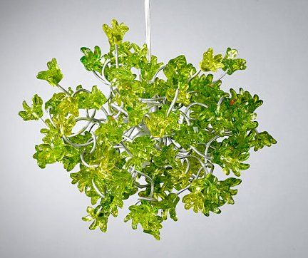 Green Flowers Lamp Shade