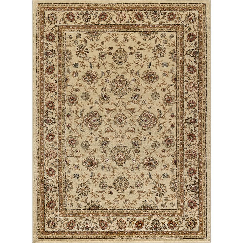 Tayse Rugs Elegance Ivory 5 Ft X 7 Ft Traditional Area Rug