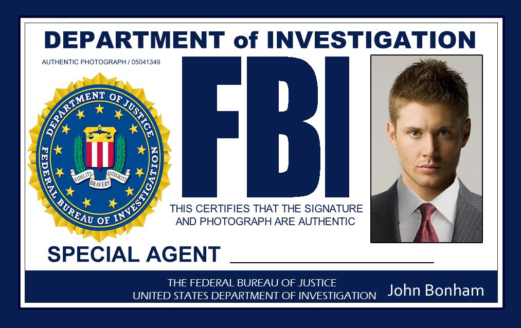 Supernatural FBI ID's | Supernatural | Supernatural ...