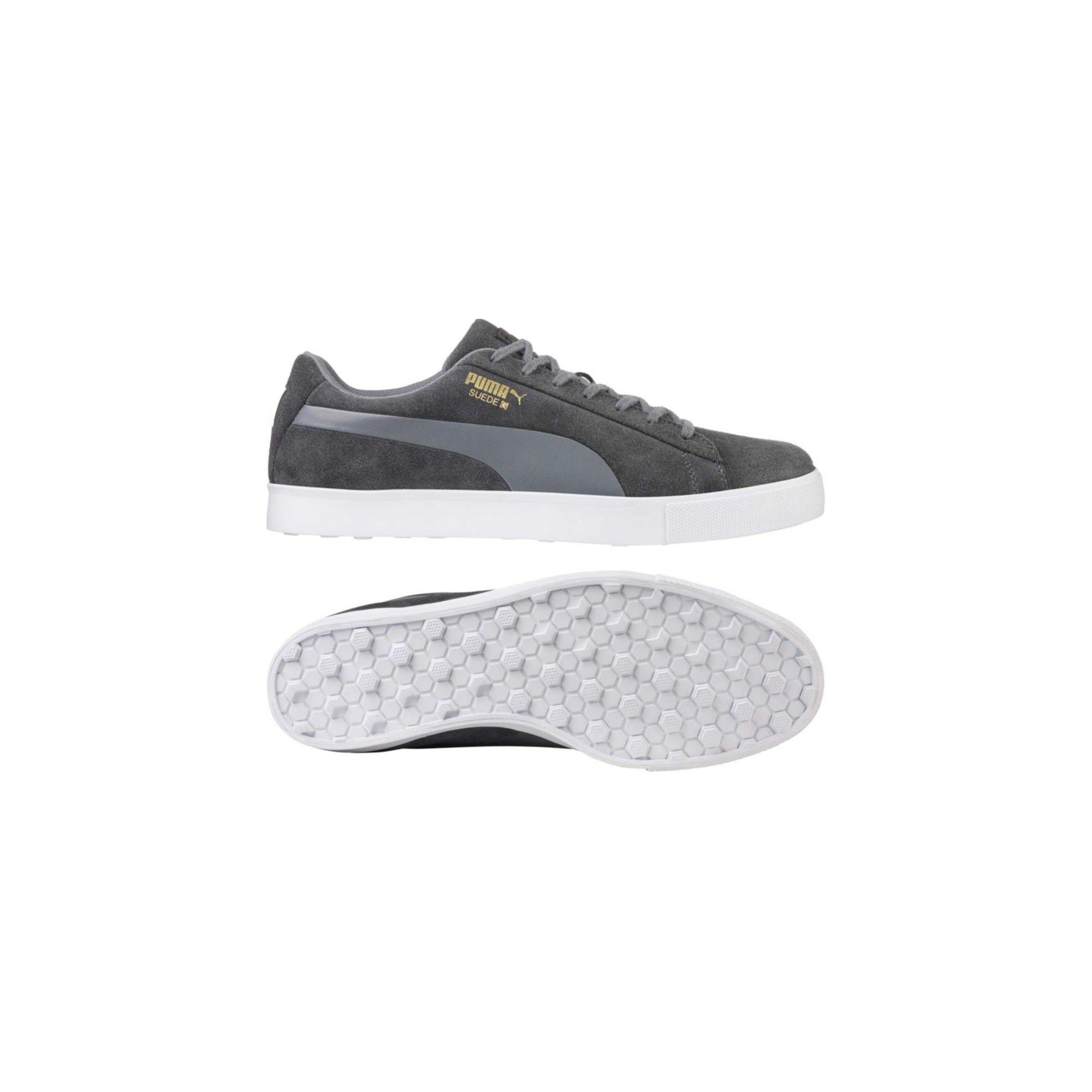 huge discount 2fc38 978f8 Men's Puma Suede G Spikeless Golf Shoes Quiet Shade 12 ...