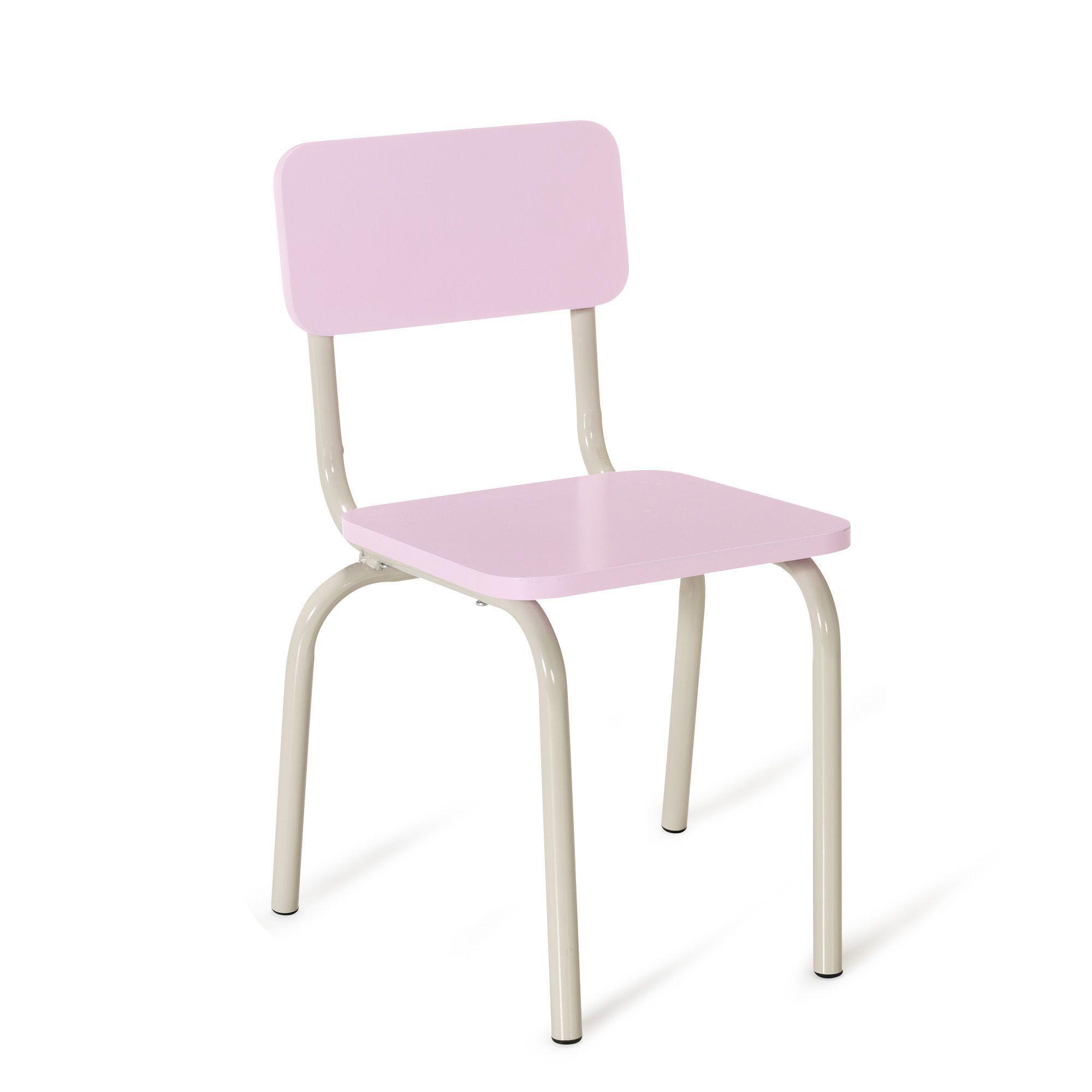 Chaise rose pour enfant en métal Rose Tubilo Les chaises et