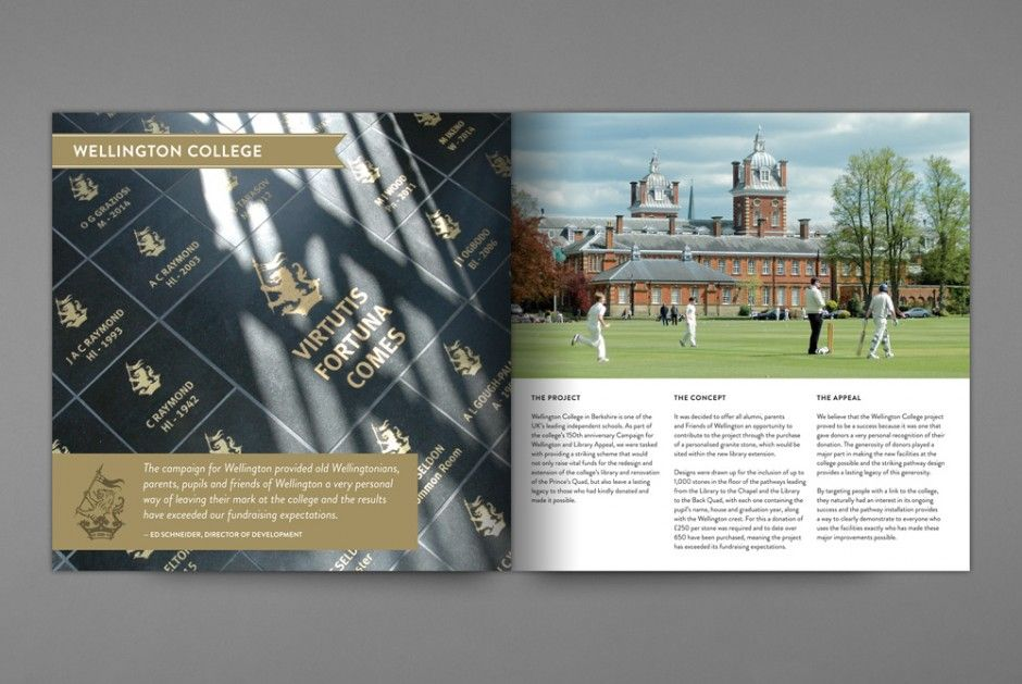 Personal Legacy Brochure Wellington College  Design