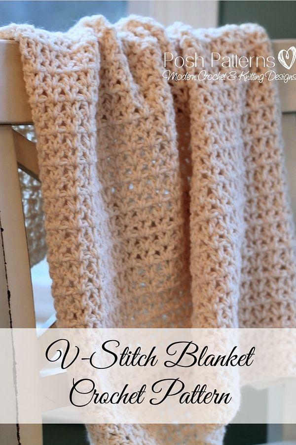 Crochet Pattern An Incredibly Elegant Crochet Baby Blanket Pattern