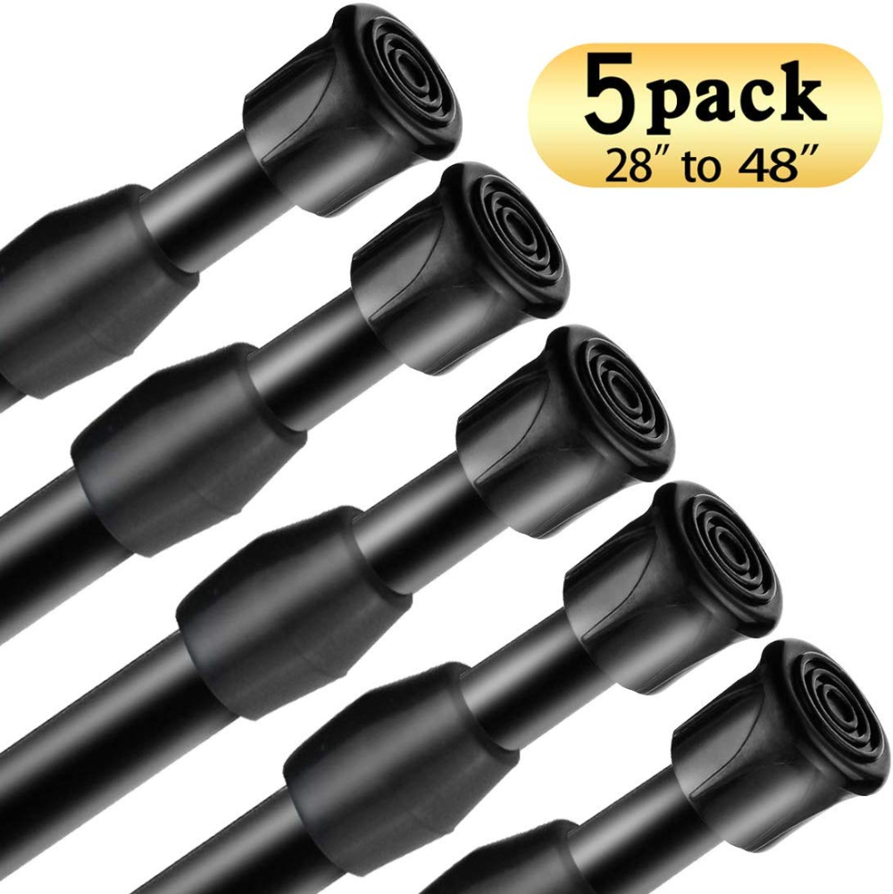 Amazon Com Goodtou Tension Rods 5 Pack Cupboard Bars Tensions