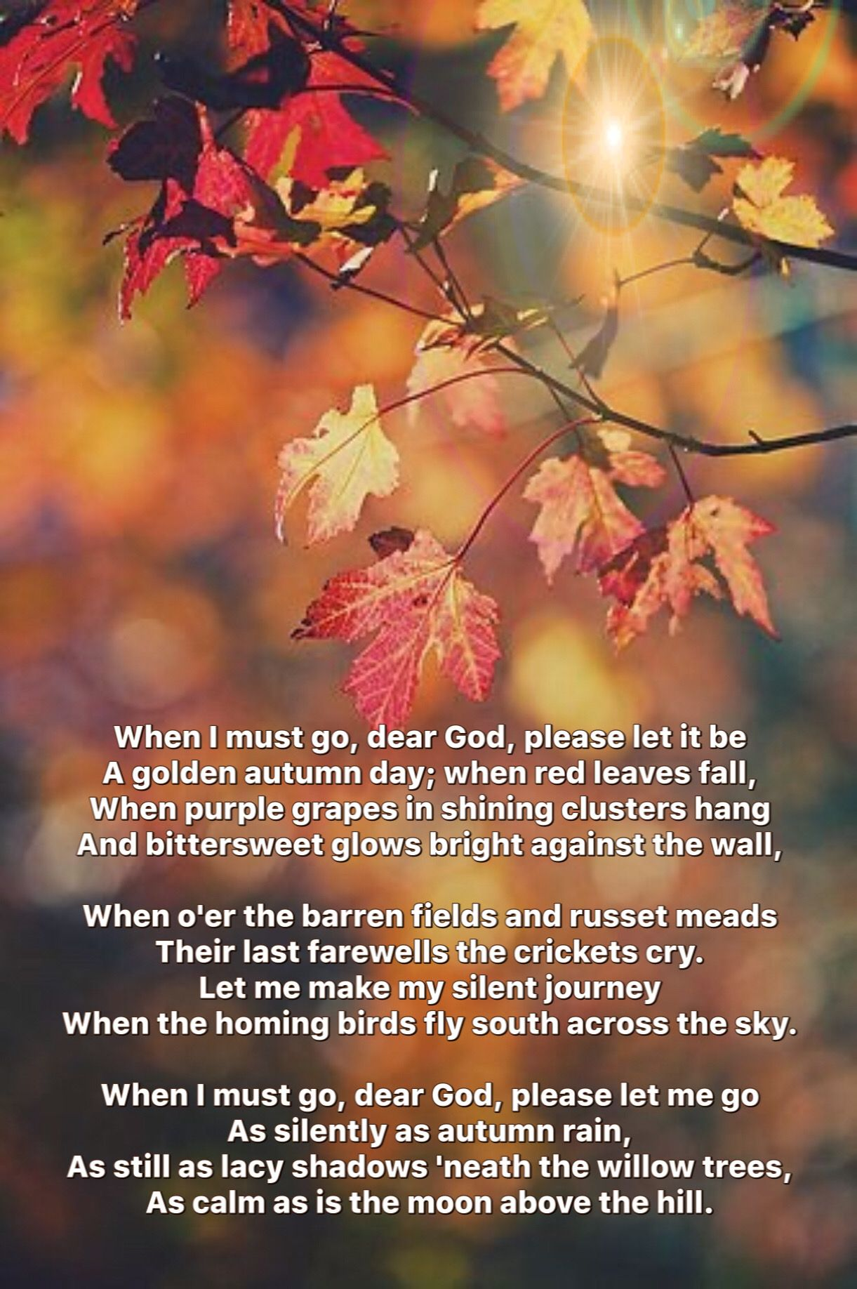 Pin By Joey Gibson On Autumn Autumn Poems When I Die Dear God