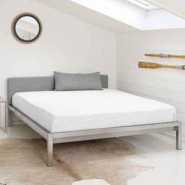 Pure 160 X 200 Cm Grau Edelstahl In 2020 Bett Kopfteil Bett