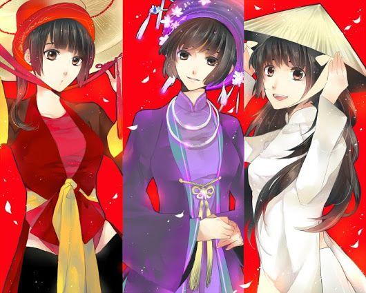 Áo tứ thân,áo dài cung đình vàáo dàinữ sinhphiên bản animeNhật.  #vietnam  #traditionaldress  #anime - Scarlet deVillain - Google+