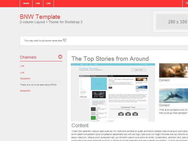Bootstrap  Version New ThemesSkins With Templates Example