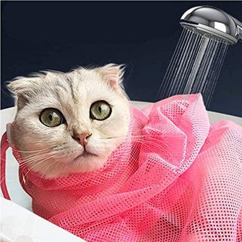 Urbeauty Adjustable Mesh Cat Bathing Bag Pets Cats Grooming