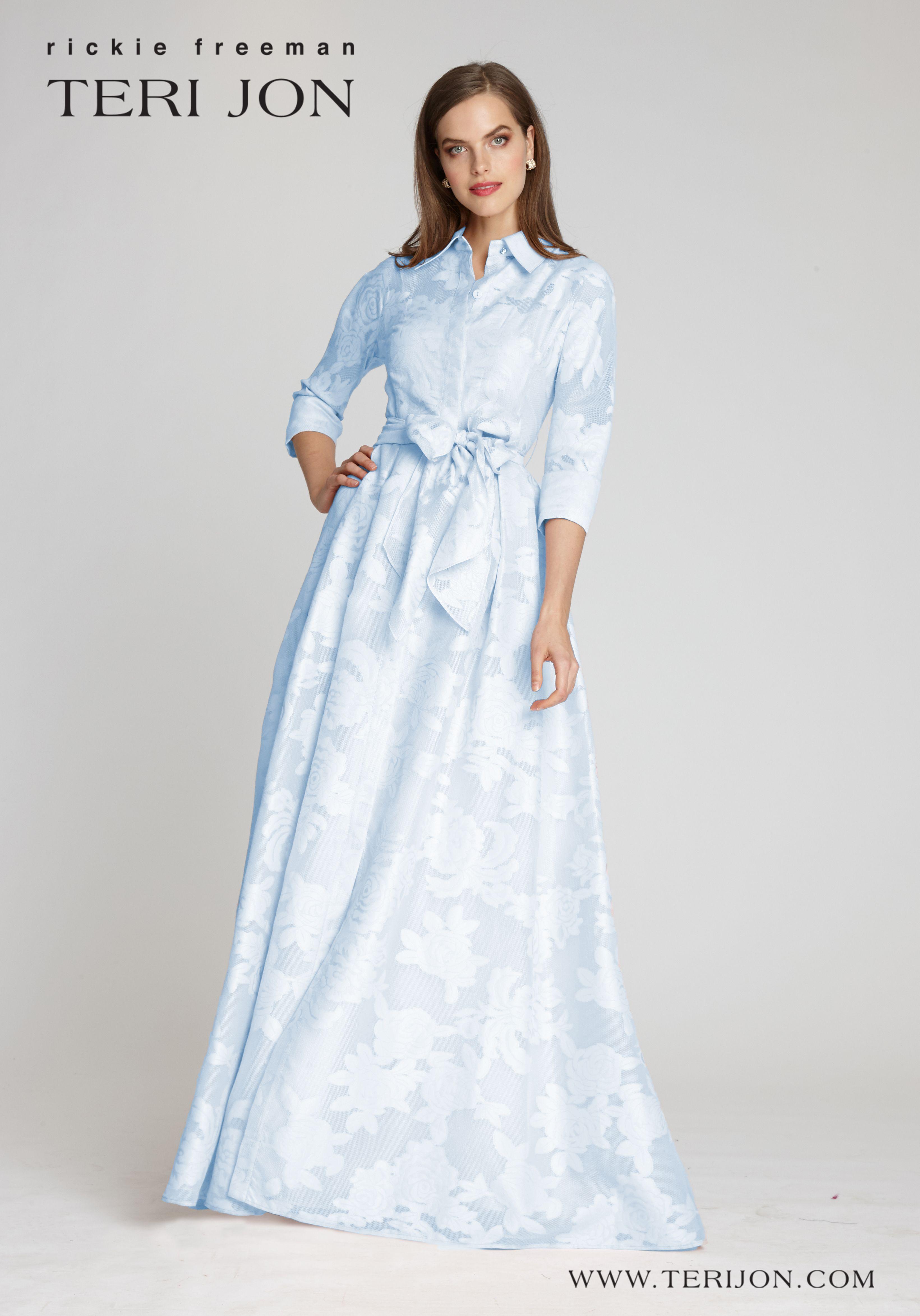 Long Sleeve Organza Jacquard Shirtwaist Gown Long Sleeve Dress Formal Long Sleeve Gown Gowns [ 4692 x 3281 Pixel ]