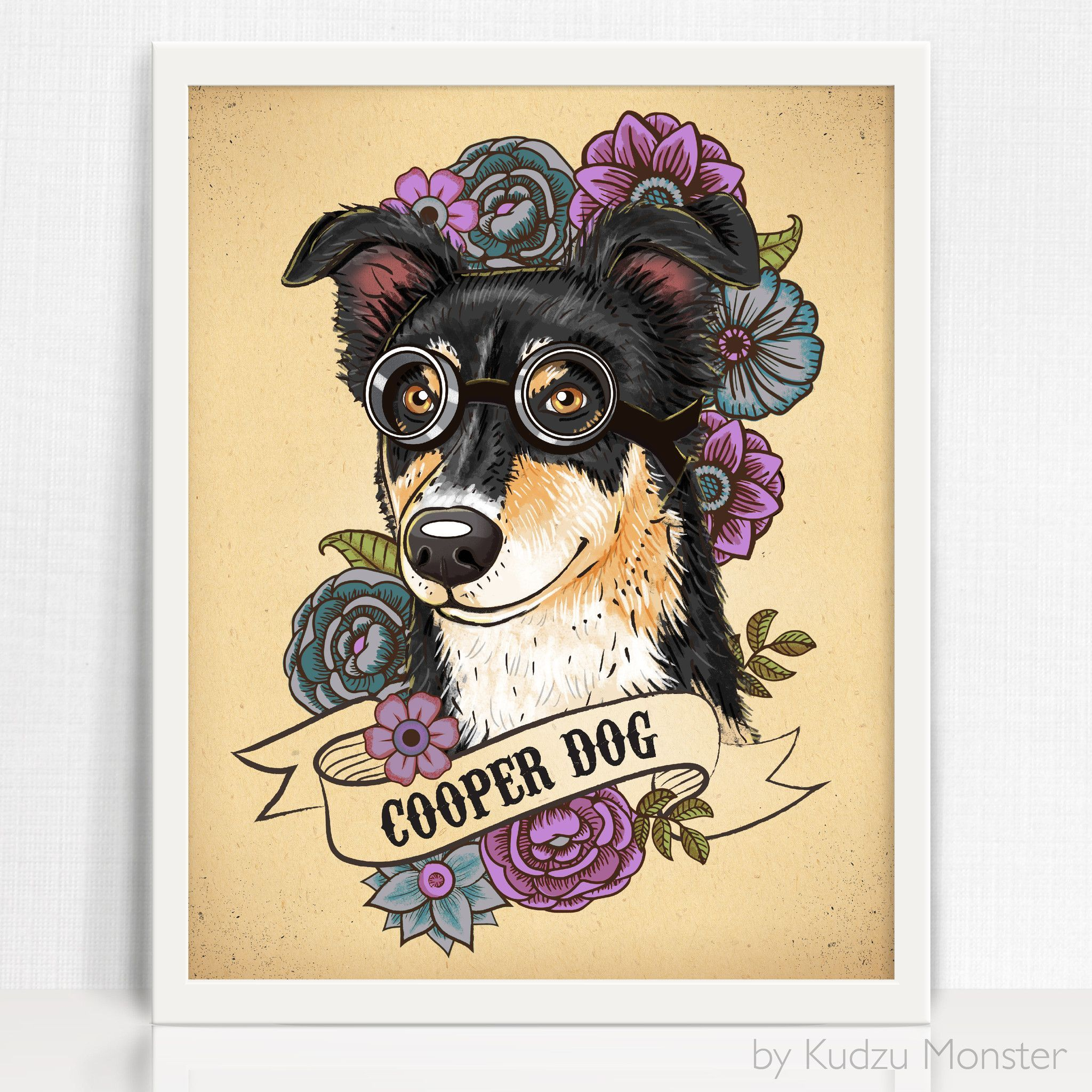 This listing is for a custom stylized pet portrait