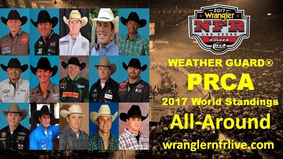 National Finals Rodeo Qualifiers 2017 AllAround
