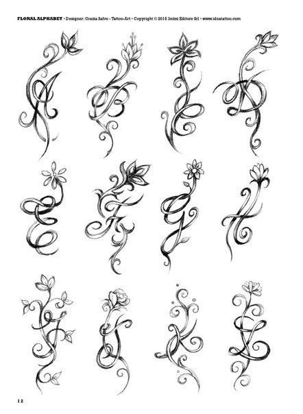 Initials tattoo photos vk letters pinterest
