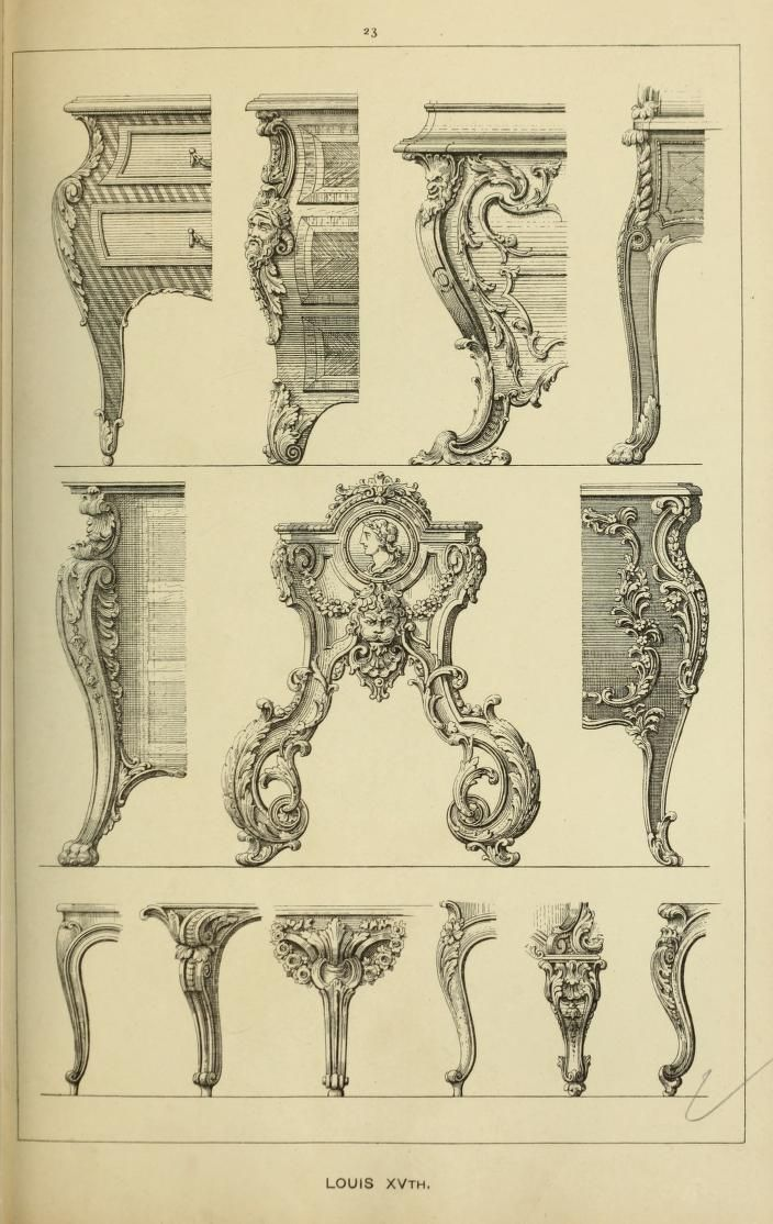 Elements of style in furniture and woodwork be for Baroque architecture elements