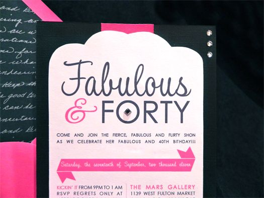 Fabulous Forty Birthday InvitationBirthday Invitations Adult 40
