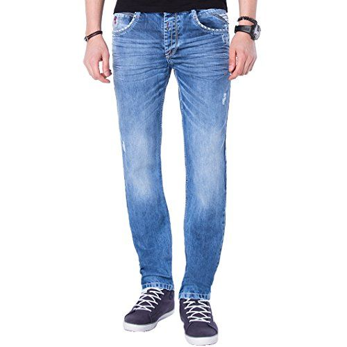 """Cipo & Baxx Herren Jeans """"C-1068"""" blue/ blau Größe 30W / 32L   http://www.damenfashion.net/shop/cipo-baxx-herren-jeans-c-1068-blue-blau-groesse-30w-32l/"""