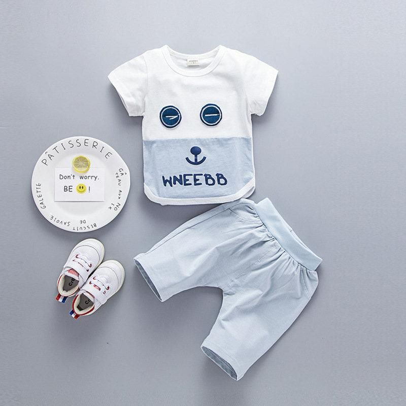 Buy 2pcs Unisex Baby Boys Girls Short Clothing Sets Casual Set Children  Summer Clothes online with cheap prices and discover fashion Baby   Moms, Baby ... bbb078d6988e